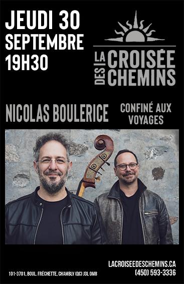 La Croisée des chemins - Nicolas Boulerice - Confiné aux voyages